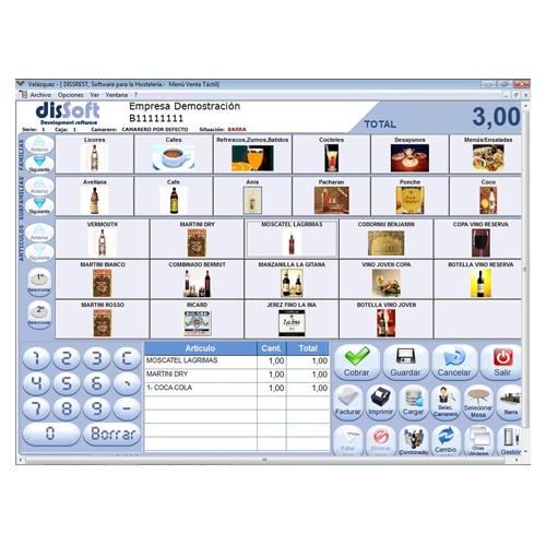 Software de los terminales de puntos de venta