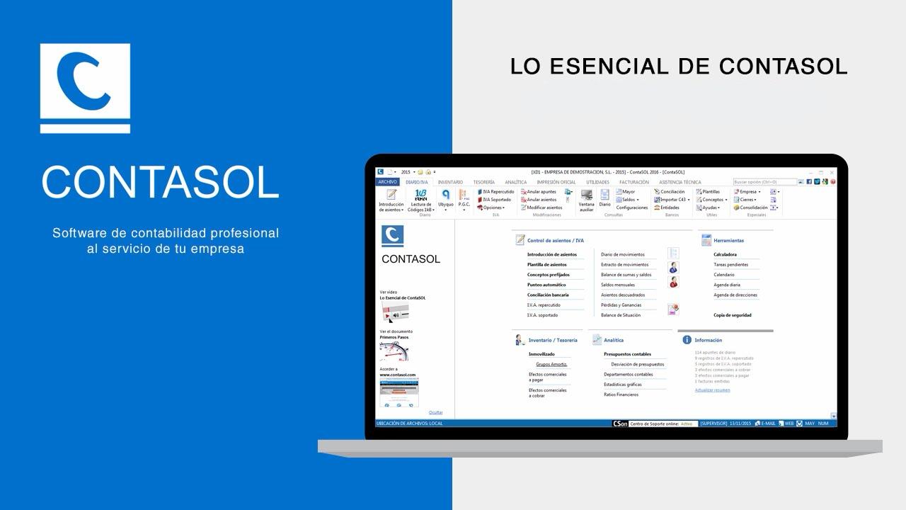 CONTASOL Software de contabilidad
