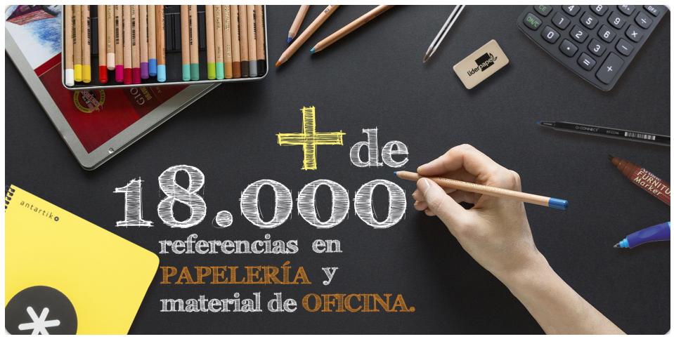 + de 18000 referencias en papelería y material de oficina