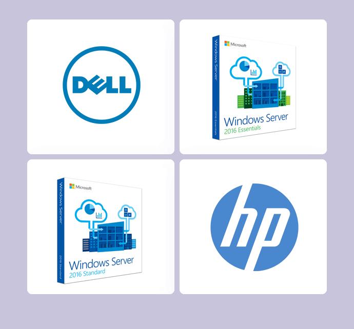 Venta y comercialización de los servidores y complementos