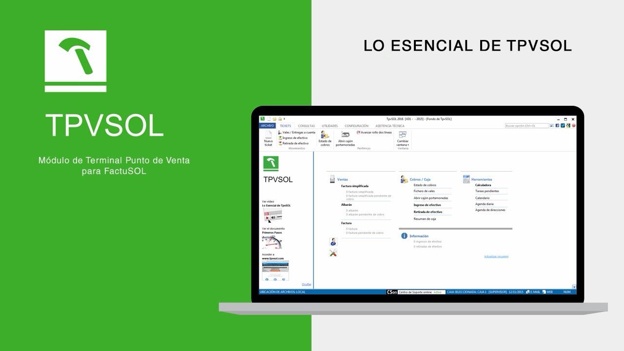 TPVSOL Software para tpv /tiendas y comercios